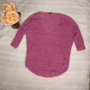 Express 3/4 Sleeve V-Neck Sweater Sz XS